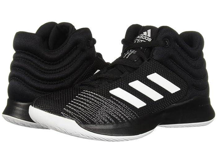 adidas Kids  Pro Spark Basketball (Little Kid/Big Kid) (Black/White/Grey) Kids Shoes