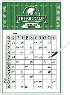 Katie Doodle Super-Bowl Party Supplies Games - Squares Poster [11x17 inches] with Removable Easy-Stick Wall Tabs - Design (SB001)