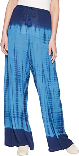High Tide Gauze Stephanie Wide Leg Wrap Pants