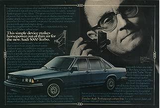 1980 AUDI 5000 TURBO SEDAN COLOR AD - DOUBLE PAGE -