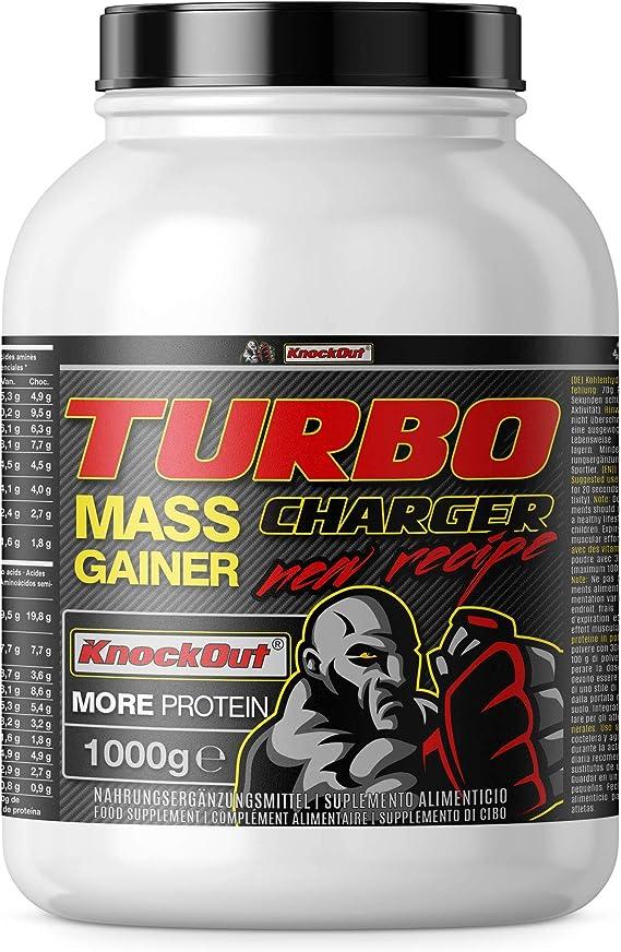 Turbo Charger Weight Gainer, proteínas e hidratos de carbono, la masa muscular y el crecimiento muscular, 1000g chocolate