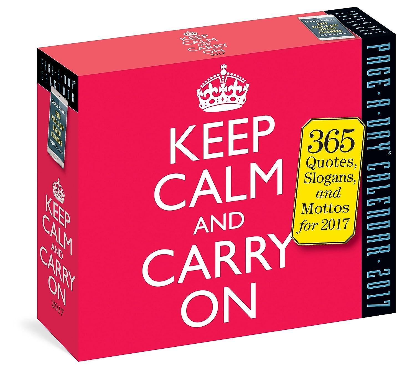 主張する継承南東Keep Calm and Carry on 2017 Calendar