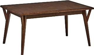 Rivet Federal Mid-Century Modern Medium Wood Dining Table, 60-82
