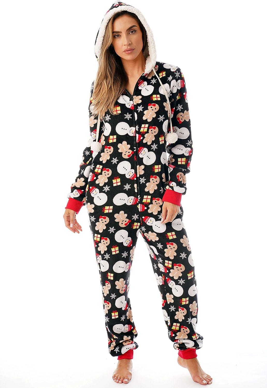 Just Love Holiday Ugly Christmas Adult Onesie Pajamas
