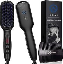 برس حرارتی و صاف کننده ریش آقایان-برند آرکام- بهترین برس صاف کننده مو و ریش-قابل استفاده برای آقایان و خانم ها