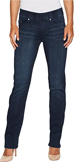 Jillian Straight Pull-On Jeans in Silky Soft Stretch Denim in Estrella Medium Dark