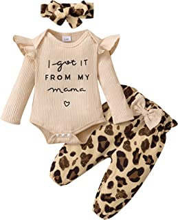 Newborn Baby Girl Clothes Infant Outifts Long Sleeve Romper Floral Pant Set Fall Winter Baby Girl Clothes