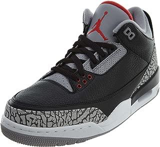 Air Jordan 3 Retro OG Men's Basketball Shoes Black/Fire Red/Cement Grey 854262-001 (8.5 D(M) US)