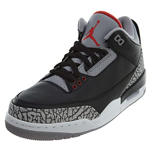 5971fcab4d6fab Jordan Air 3 Retro OG Men s Basketball Shoes Black Fire Red Cement Grey  854262