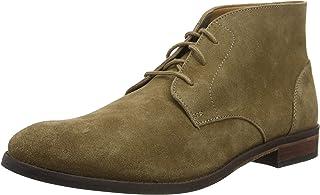 Clarks Men's Flow Top Chukka Boots, Beige (Dark Sand Suede Dark Sand Suede)