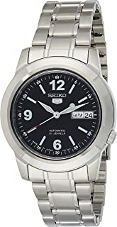 Seiko 5 Automatic Men's Black Dial Stainless Steel Band Watch - SNKE63J1