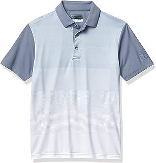 PGA TOUR Boys' Standard Ss Front Ombre Polo
