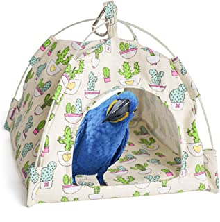 Mydays Snuggle Bird Hammock, Parrot Bed, Hanging Toy, Habitat Cave, Happy Hut, Parrot Cage Bird Perch Stand