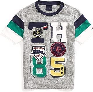 Tommy Hilfiger Boys' Adaptive T Shirt with Adjustable Shoulder Closure