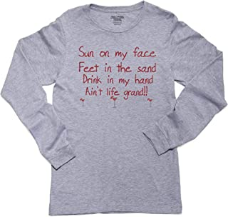 Sun On My Face Feet in The Sand Ain't Life Grand Long Sleeve Youth T-Shirt
