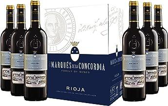 Caja de Marqués de la Concordia Crianza D.O Rioja Vino - 6 botellas x 750 ml. - 4500 ml