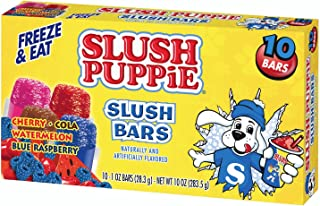 Slush Puppie Slush Bars, Assorted Flavors (12 Boxes, 10 - 1 oz bars per box)