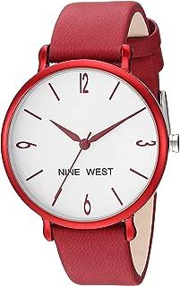 Nine West NW/2319WTRD - Reloj de pulsera para mujer, color rojo
