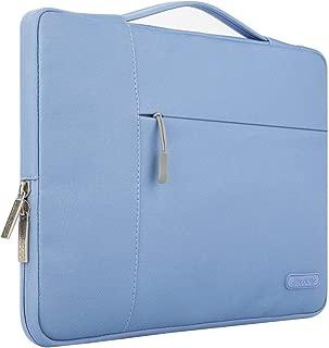MOSISO Maletín Compatible con 13-13,3 Pulgadas MacBook Air/MacBook Pro Retina/2019 Surface Laptop 3/Surface Book 2, Poliéster Funda Blanda Protectora Multifuncional Bolso, Serenidad Azul
