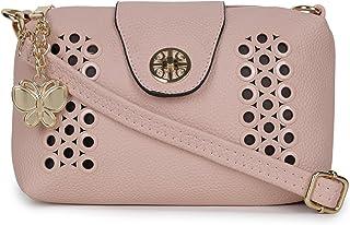 Butterflies Women Sling Bag (Light Pink) (BNS-B-8097#PK)