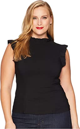 Plus Size Stretch Ruffle Astor Top