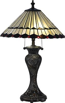 "Dale Tiffany TT17117 Trenton Table Lamp, 28.5"", Amber"