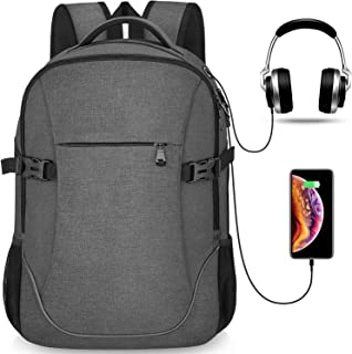 Maxvolador, Anti Theft Lightweight Travel Laptop Backpack - Dark Grey for Officer Men & Women, School College Student, Fits 15.6-17 inch MacBook/Notebook