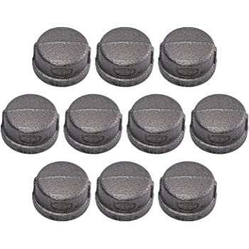 1//2 in Black SUPPLY GIANT CNDQ0034-10 BMCP0012-10 Pipe Cap