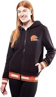 Ultra Game NFL Women's Full-Zip Sherpa Jersey Hoodie