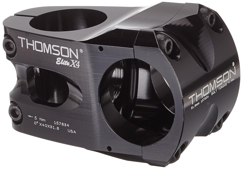 THOMSON(トムソン) MTB STEM X4 31.8 40mm 0°BLACK SME174BK ブラック 31.8 40mm 0°