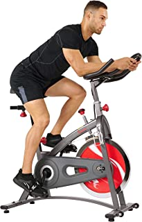 Sunny Health & Fitness Unisex Adult SF-B1423 Belt Drive Indoor Cycling Bike - Grey, One Size
