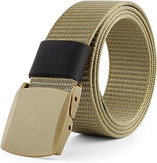 WINLISTING Cintur/ón Unisex Ajustable Cintur/ón Hombre y Mujer Cintur/ón de Lona de Doble bucle Cinturon