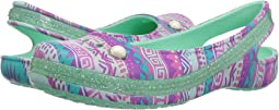 Crocs Kids Genna II Graphic Sparkle Sling (Toddler/Little Kid/Big Kid)