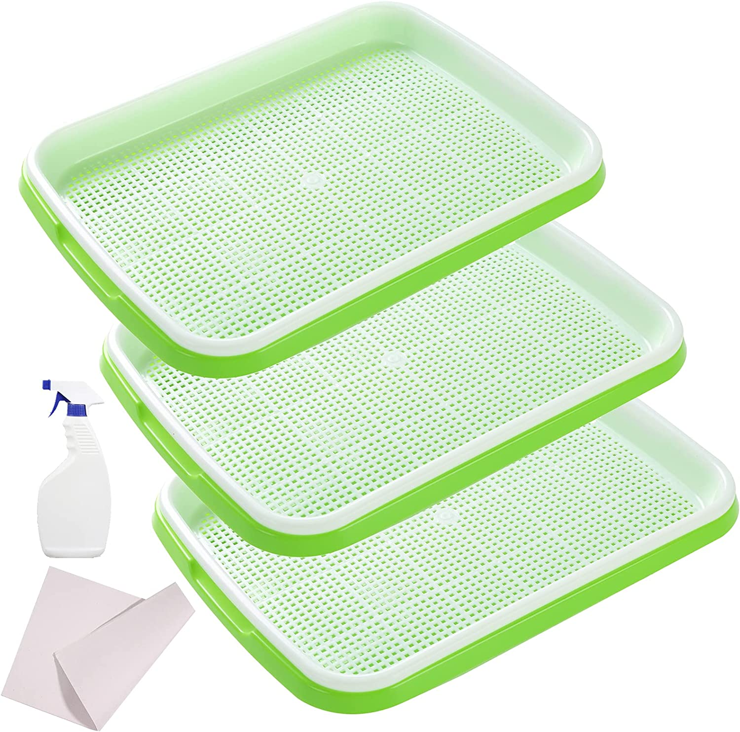 MAOPINER Seed Sprouter Tray Latest item with Holes Columbus Mall BPA Drain Nursery Free