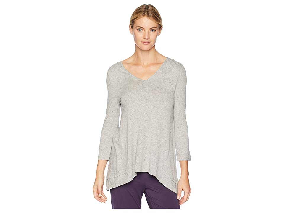 Jockey Above Elbow Sleeve Top (Heather Grey with Neps) Women