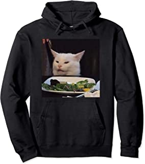 Dinner Table Cat Meme Funny Internet Viral Joke Pun Gift Pullover Hoodie