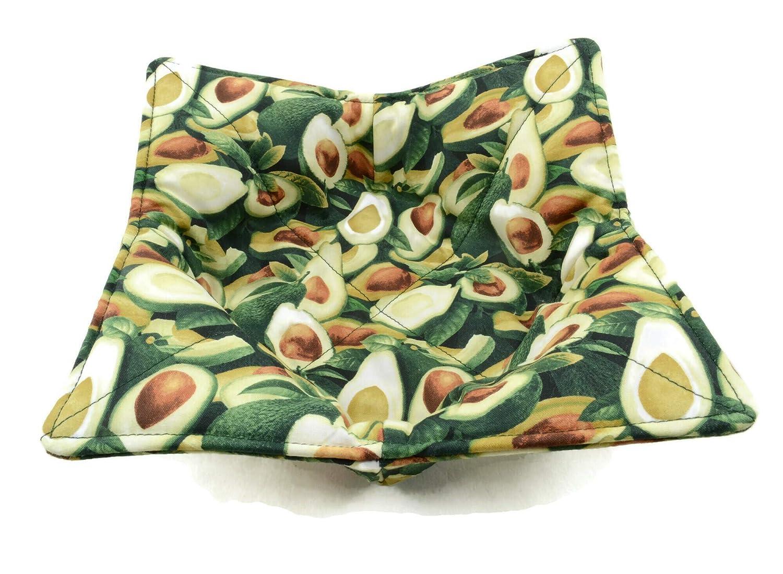 Avocado Special price Print Microwave Bowl Holder - Cozy Green Albuquerque Mall Cotton