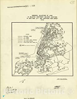 Historic Pictoric Map : New York 1954, Assessed valuations of Land in Selected Apartment Building Locations in New York Ci...