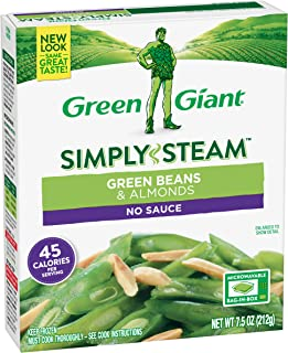 Green Giant Simply Steam, Green Beans & Almonds, 7.5 Ounce (Frozen)