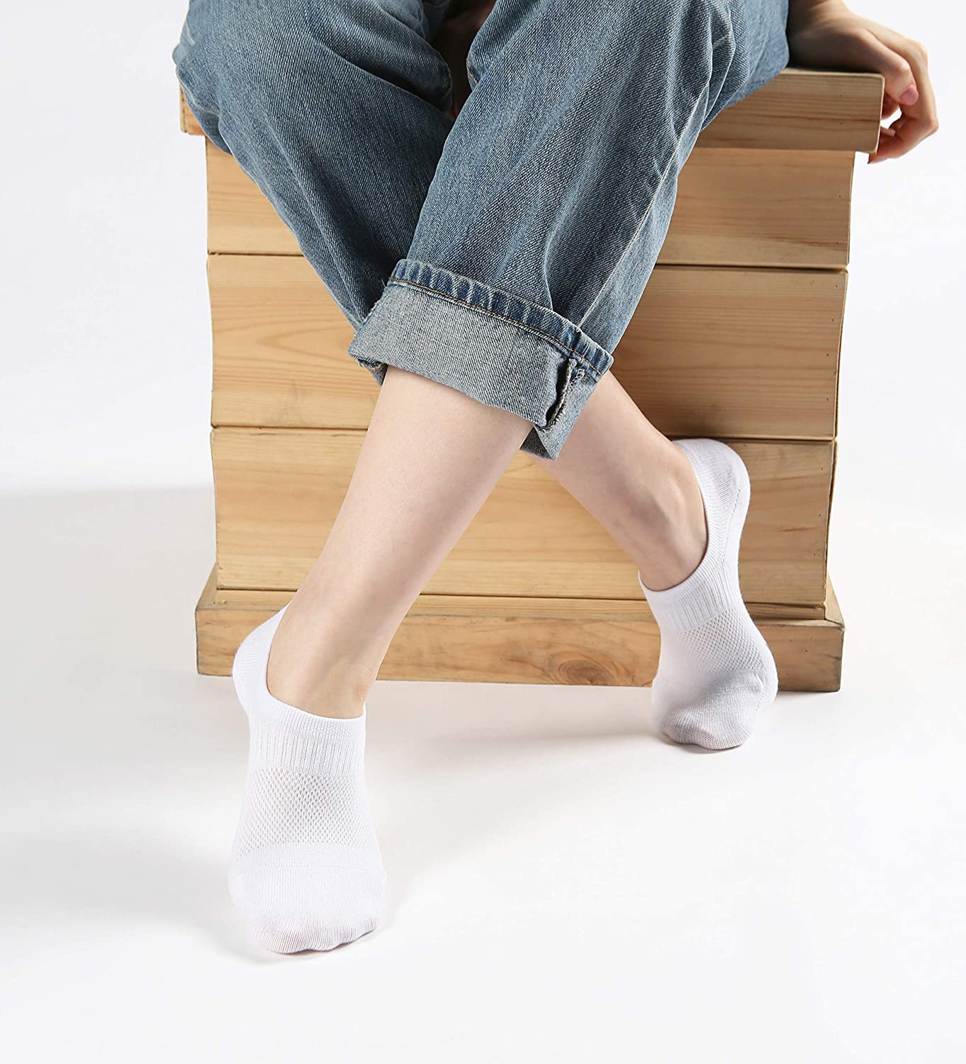Pro Mountain No Show Socks 6 Pack Seamless Thin Low Cut Cotton Casual Liner