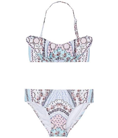 Seafolly Girls Big Tie Front Mini Tube Bikini Swimsuit