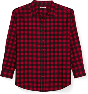 Amazon Essentials Men's Big & Tall Long-Sleeve Plaid Flannel Shirt fit by DXL