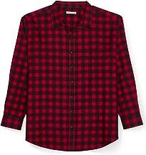 Amazon Essentials Men's Big & Tall Long-Sleeve Plaid Flannel Shirt fit by DXL