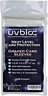 PSA Graded Card Bags Sleeves (100 Count) Soft Holders for Trading Baseball Sports Slabs