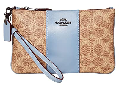 COACH Small Wristlet (V5/Tan Bluebell) Handbags