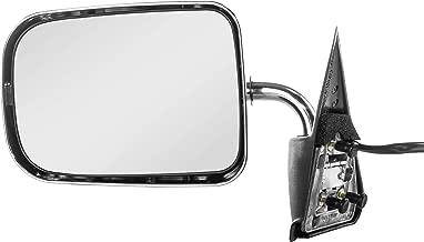 Left Driver Side Chrome Non-Heated Folding Door Mirror for Dodge Ram 1500 (1994 1995 1996 1997) Dodge Dakota (1987 1988 1989 1990 1991 1992 1993 1994 1995 1996)