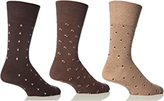 6 Pairs Mens Gentle Grip HoneyCombe Top Non Elastic Socks by Drew Brady/Various Colour Designs to Choose From/UK Sizes 6-1...