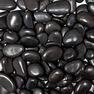 Midwest Hearth Natural Decorative Polished Black Pebbles 1/2