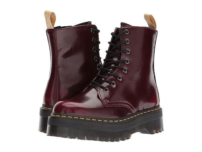 Burgundy Brushed Leather 8eye Boots