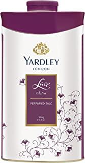 Yardley London Lace Satin Perfumed Talc for Women, 250g